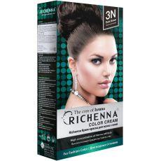 Richenna 3N Крем-краска для волос с хной (Dark Brown), Оттенок: 3N (Dark Brown), image