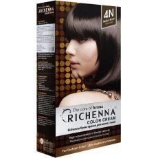 Richenna 4N Крем-краска для волос с хной (Brown), Оттенок: 4N ( Brown), фото