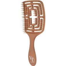 Расчёска для волос Von-U Spin Brush, золотая, фото