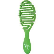 Расчёска для волос Von-U Spin Brush, зелёная, фото